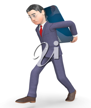 Credit Card Showing Business Person And Finances 3d Rendering