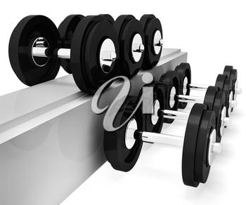 Exercise Gym Indicating Getting Fit And Gymnasium 3d Rendering