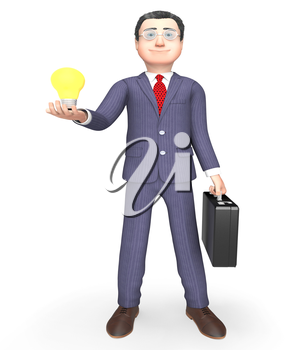 Idea Character Meaning Power Source And Creativity 3d Rendering