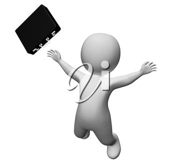 Character Falling Meaning Business Person And Trauma 3d Rendering