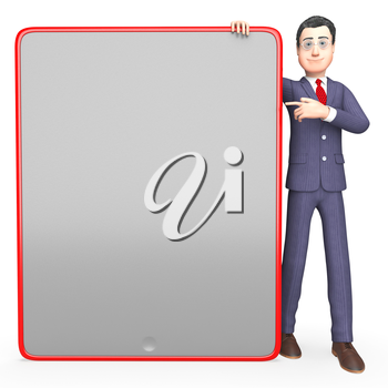Character Blank Representing Business Person And Message 3d Rendering