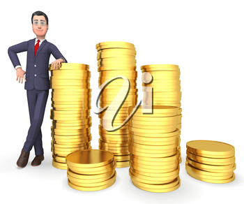 Finance Savings Meaning Business Person And Accounting 3d Rendering