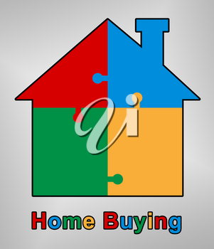 Home Or House Buying Guide Symbol Means Real Estate Guidebook For Purchasing Investments Or Accomodation - 3d Illustration