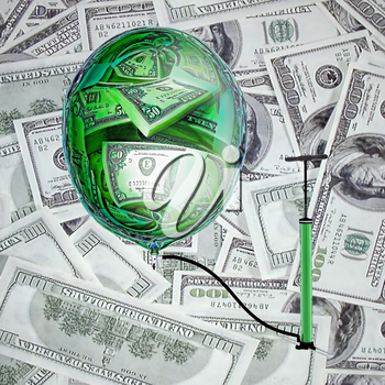 Sphere, pump and money.