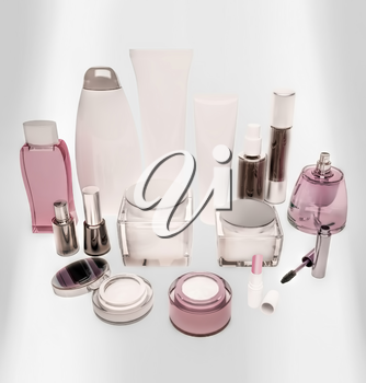 Cosmetics is located on a luminous panel.