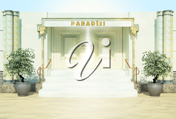 Gate in paradise.