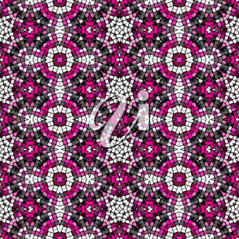 Illustration of the colorful knitted seamless background, texture with circles shape.