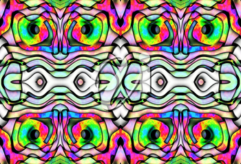Colorful abstract design texture with chaotic tangled strips.