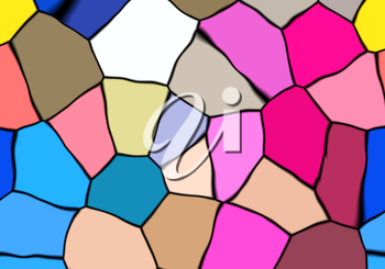 Abstract colorful mosaic suitable for some color background.