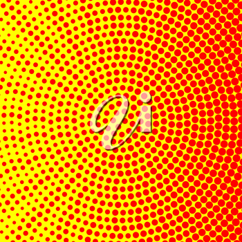 Simple circle red and yellow halftone texture.